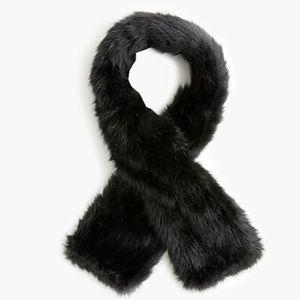 J.Crew faux fur skinny scarf stole